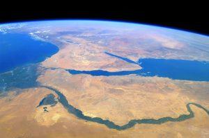 Река Нил - вид из космоса